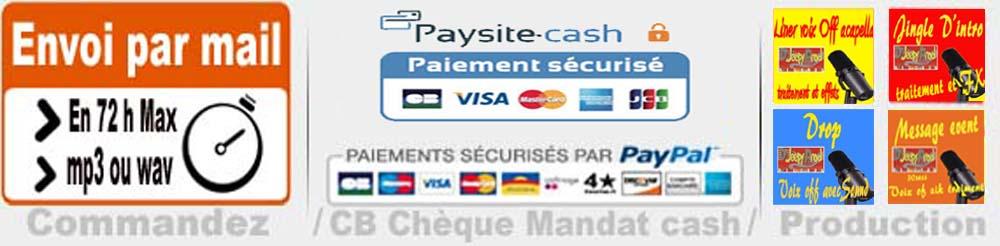 Production de jingle francais livraison et paiement djeepyprod com