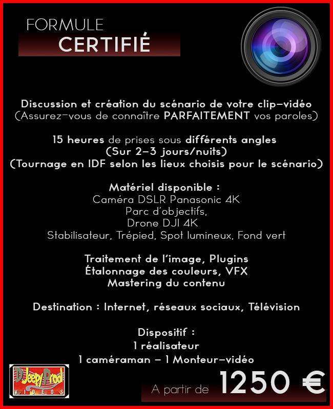 Djeepyprod  création clip musical /entreprise/ évènementiel /formule certifie