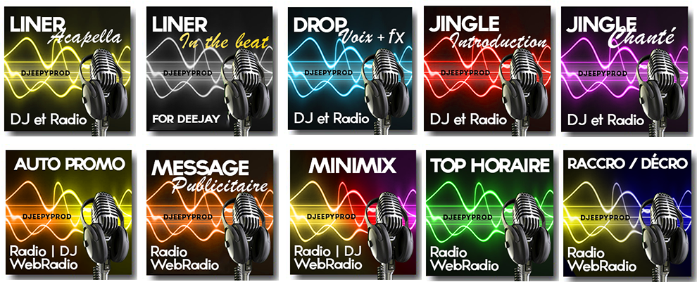Sample pour dj Jingle radio habillage par djeepyprod
