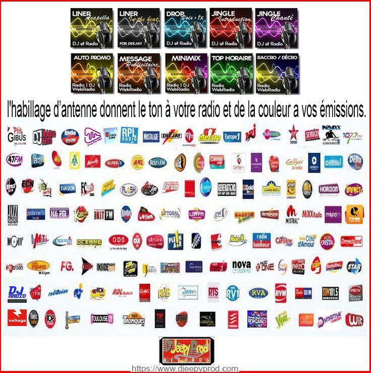 Logos partenaires radio  de Djeepyprod.com
